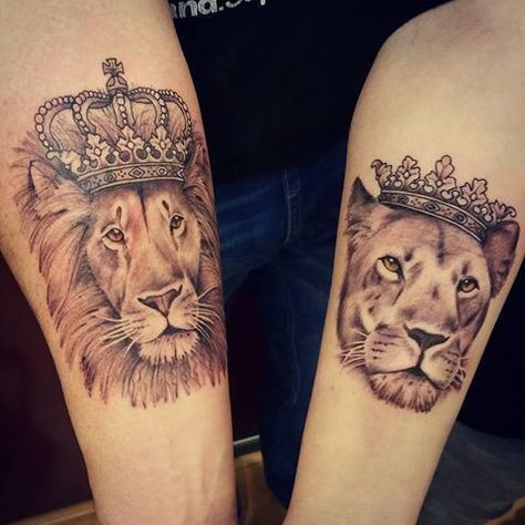 9cfae02bbe1b8 Image result for lion and lioness tattoo | toya | Lioness tattoo ...