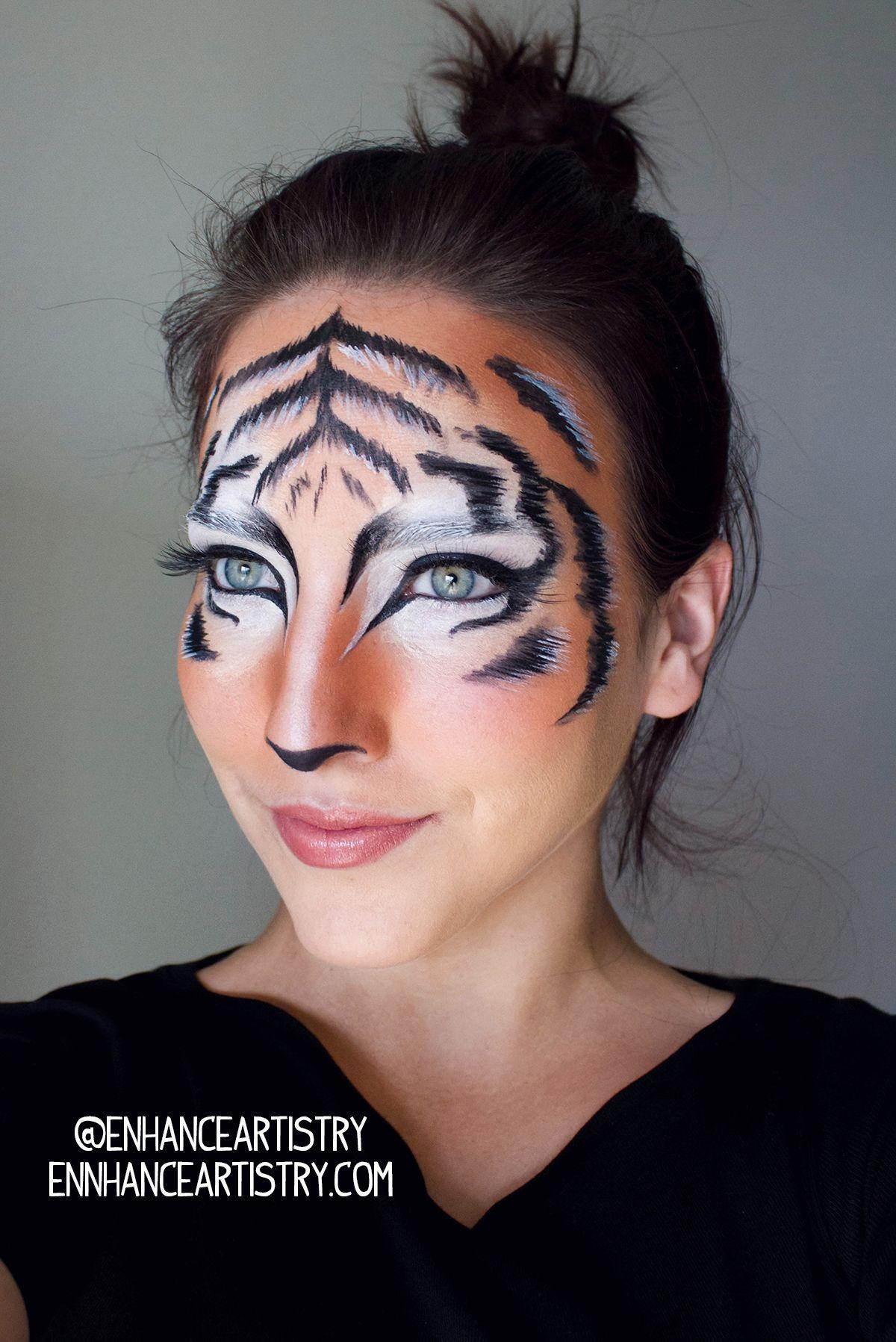 tiger halloween makeup makeup pinterest halloween