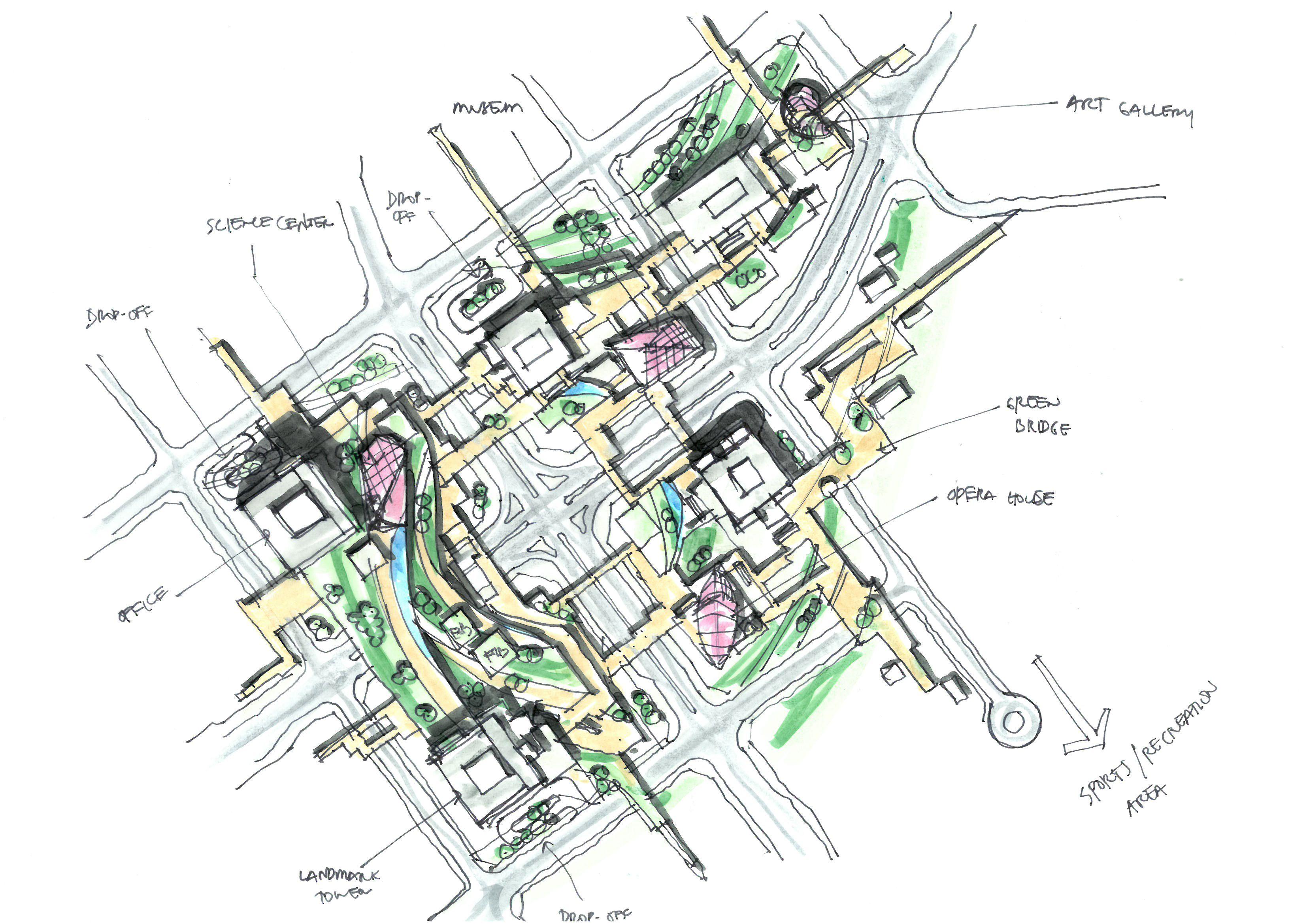 Mlp Sketch Randy Carizo Master Plan Site Plan Landscape Concept