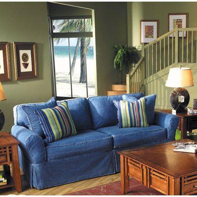 Best Denim Dream Queen Sleeper Sofa Bernie And Phyls 400 x 300