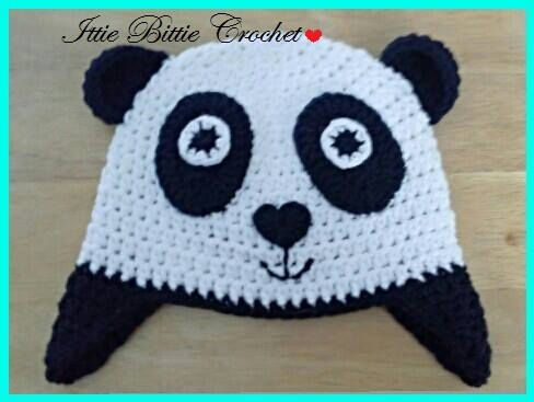 ec44f3a78df Crochet Panda Ear-flap Hat