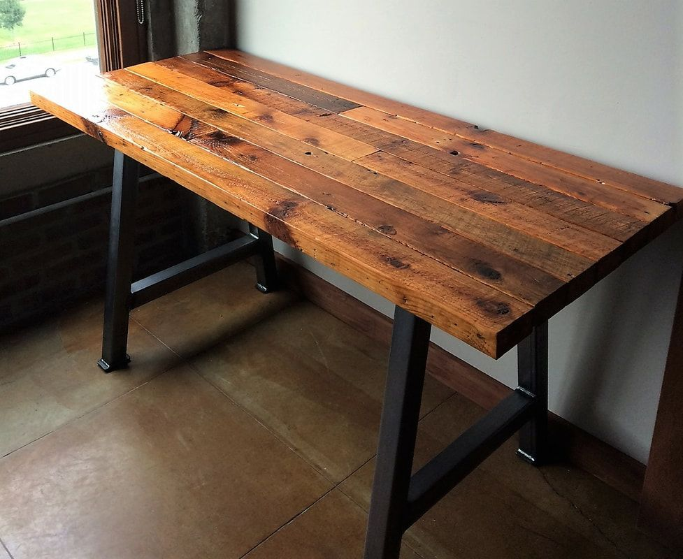 Make An Industrial Desk Your 2x4 Lumber New Or Reclaimed With