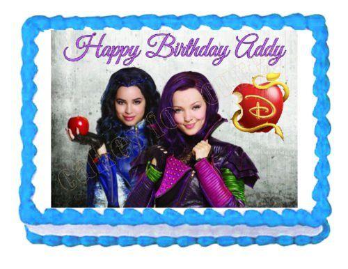 MAL Descendants Party Edible cake topper image design