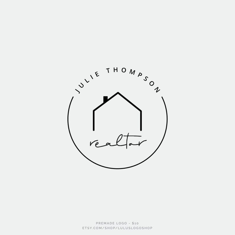Real Estate Logo Design Realtor Logo House logo watermark | Etsy