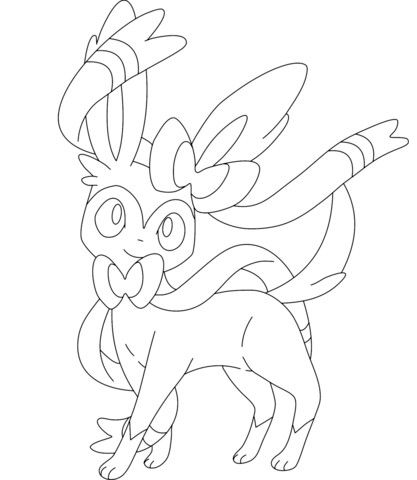 Pokemon Sylveon Coloring Page Coloring Pages Pokemon