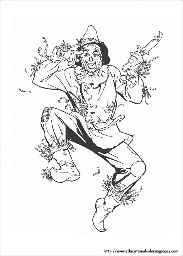 scarecrow in free wizard of oz printable coloring pages