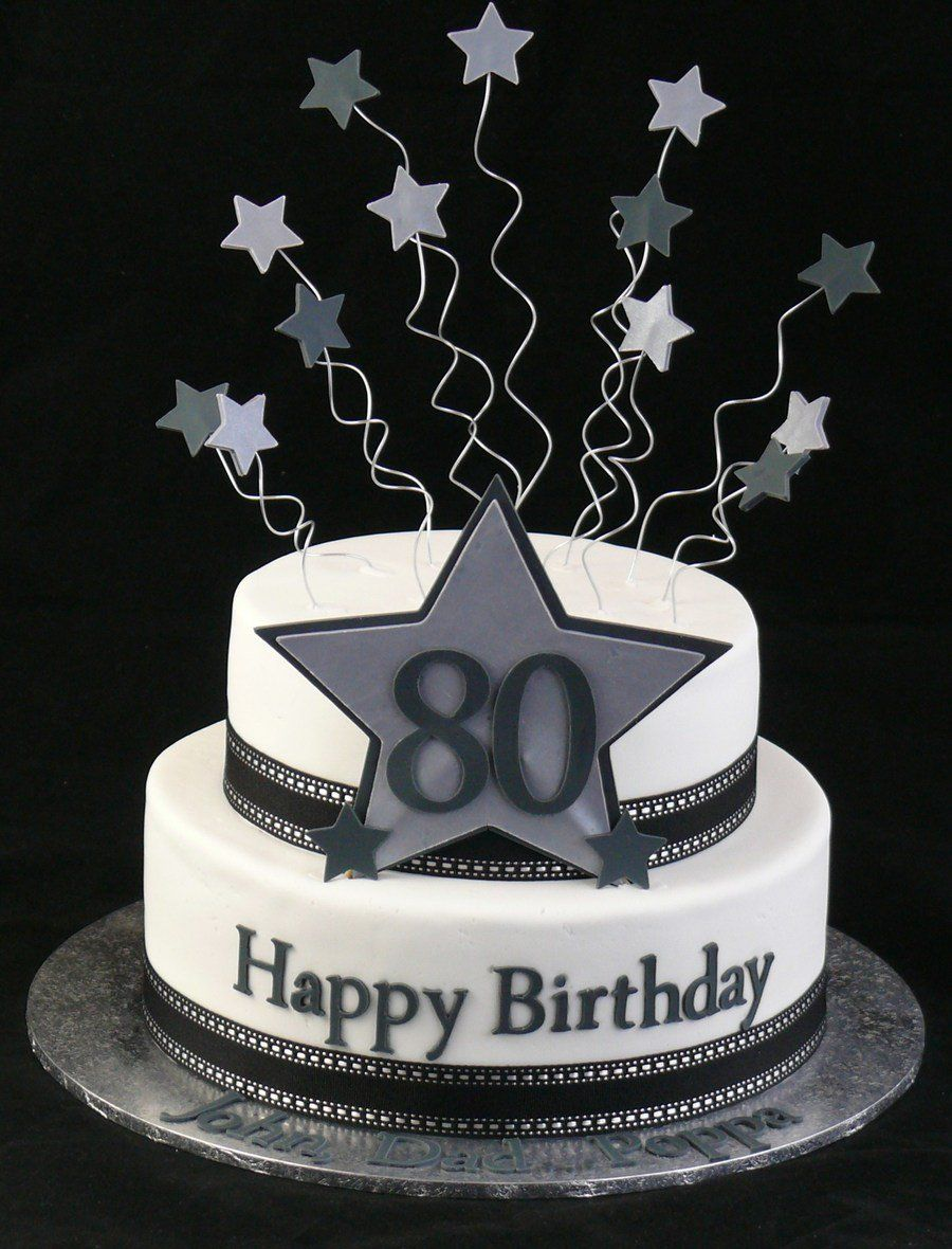 Happy 80th On Cake Central 60th Birthday Cakes Birthday