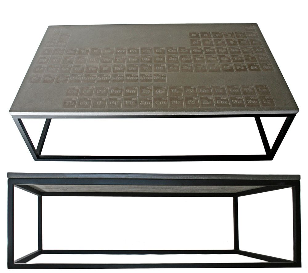 Periodic concrete coffee table by james dewulf is a formula for hip periodic concrete coffee table by james dewulf is a formula for hip home decor teraionfo