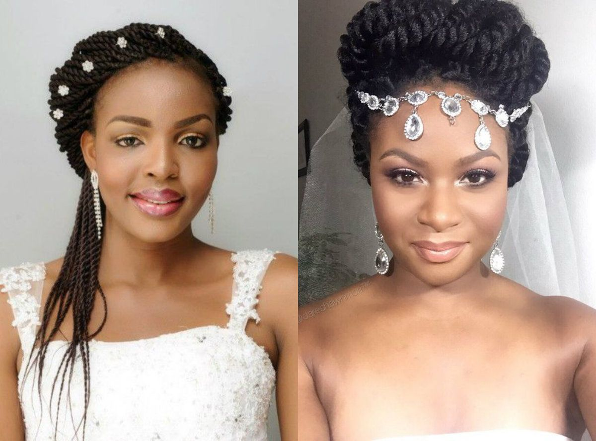 Spring Season Box Braids Wedding Hairstyles 2017