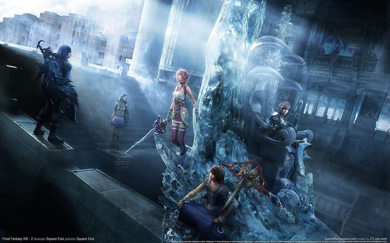 Final Fantasy Xiii 2 Hits Pc Next Month Final Fantasy Wallpaper