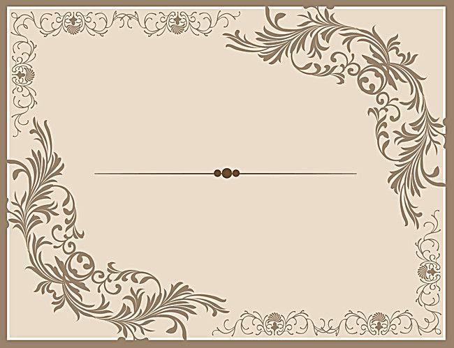 النمط الكلاسيكي الأوروبي نمط الحدود ناقلات خلفية بطاقة دعوة تصميم Floral Background Framed Photographs Decor