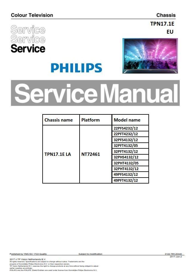 Philips 32pfs4132 32pft4132 32phs4132 32pht4132 Tv Service