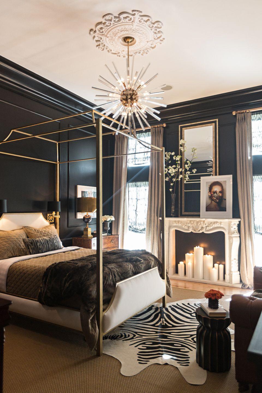 15 Luxueuses Chambres A Coucher Decorees En Noir Et Dore Chambre