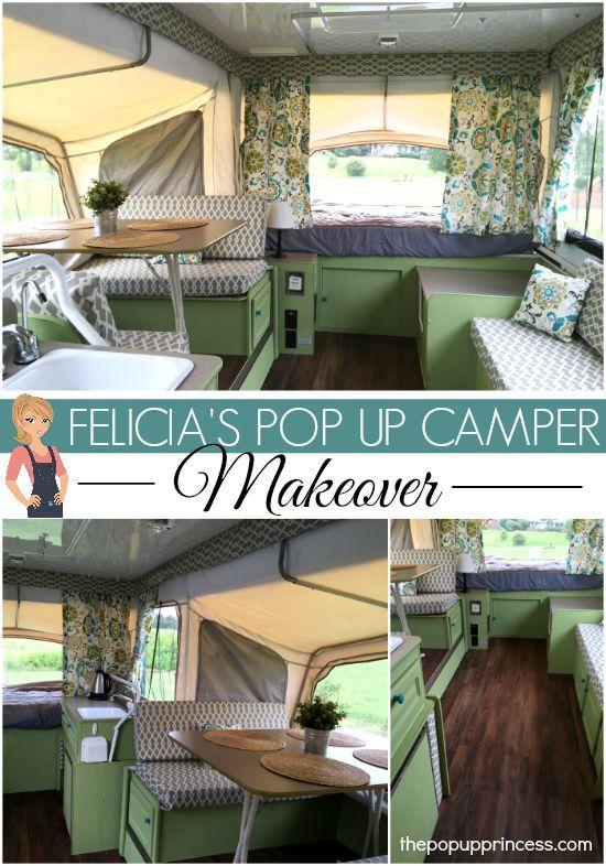 Felicia S Pop Up Camper Makeover Camper Makeover Remodeled