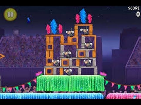 Angry Birds Rio Carnival Upheaval Level 1 Walkthrough 3 Stars