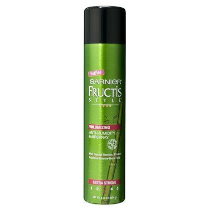 Garnier Fructis Style Full Plush Extra Strong Hold Volume Hairspray 8 25 Oz Anti Humidity Hair Spray Hair Volume Spray Hairspray