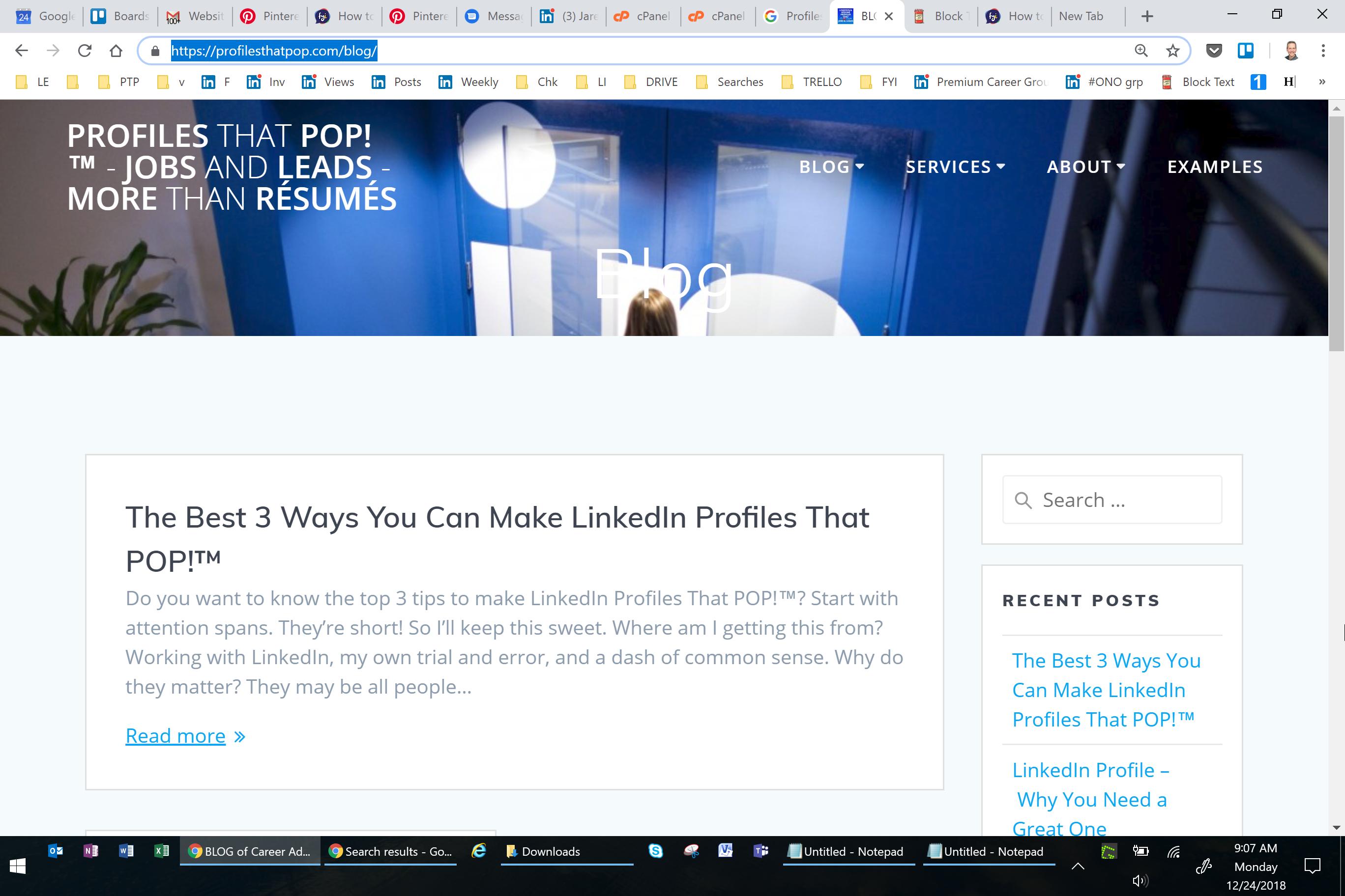 Blog of Profiles That POP!™ LinkedIn, Résumé and Career
