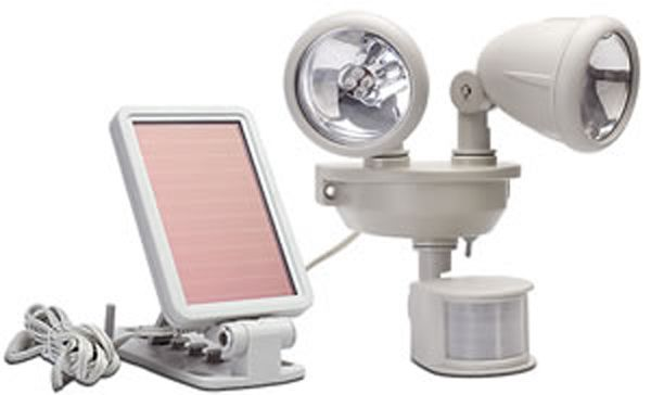 Solar Power Motion Activated Dual Head Security Light Security Spotlight Security Lights Solar Security Light