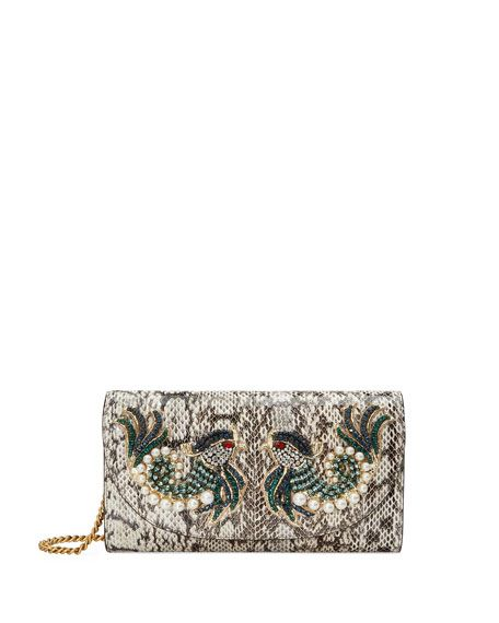 246b19b6e004 GUCCI Broadway Small Watersnake Clutch Bag, Python. #gucci #bags #shoulder  bags #clutch #crystal #hand bags #