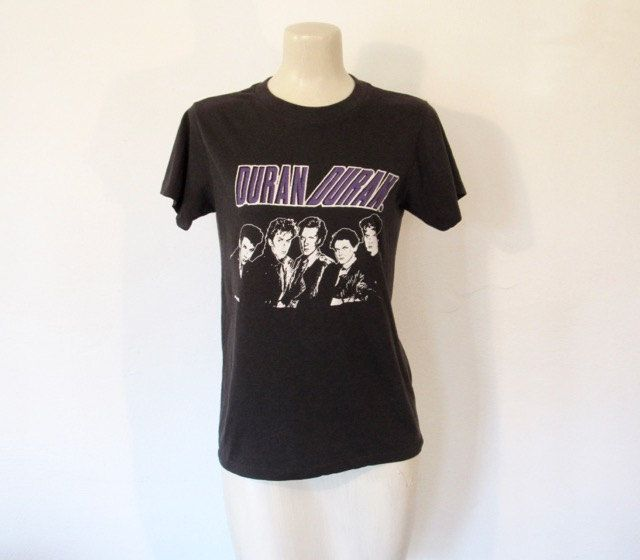 SOLD / #Vintage 1980s Duran Duran Black T-shirt / Unisex Tee by VelouriaVintage on Etsy #DuranDuran