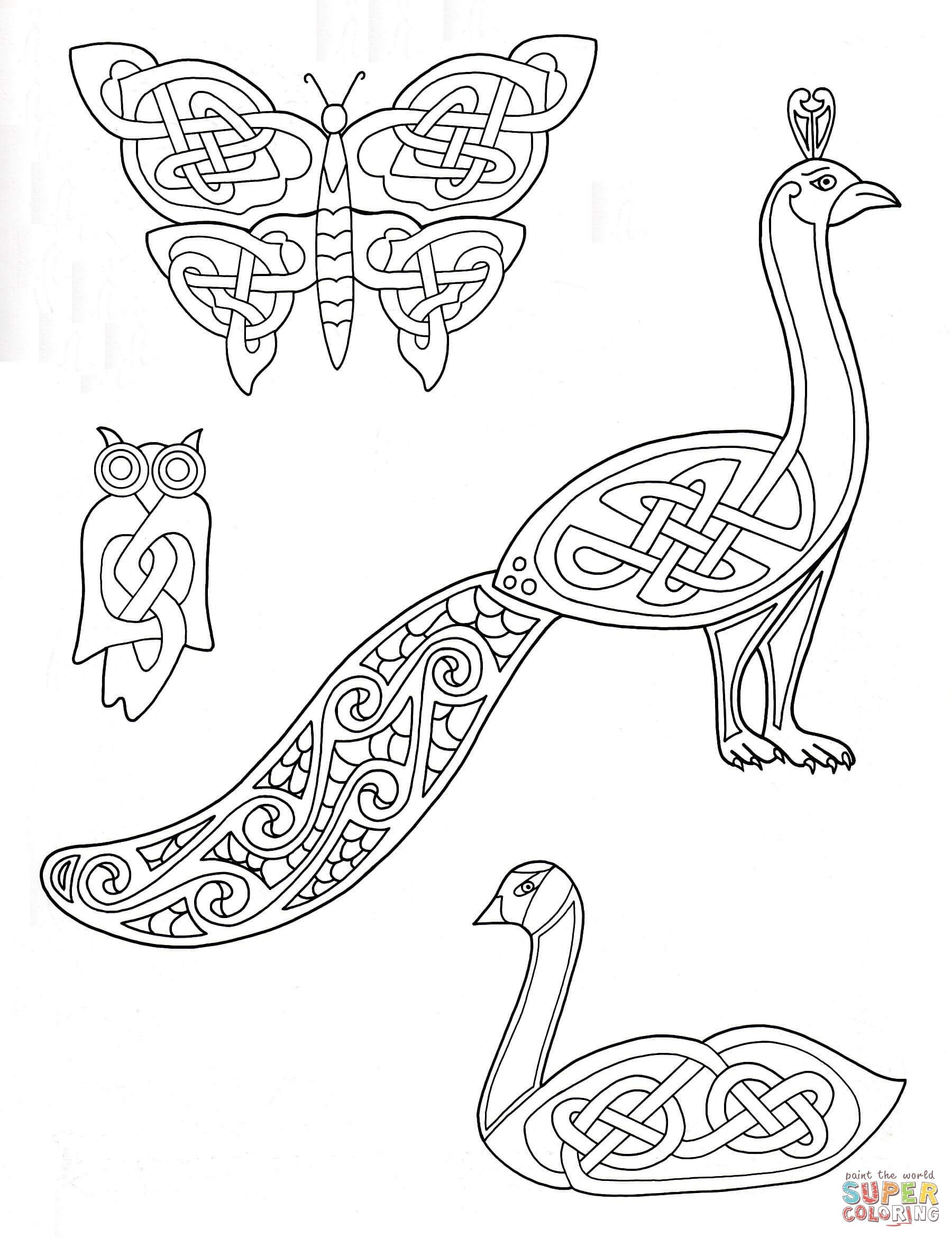 Celtic Animals Designs Coloring Page From Art Category Select 27115 Printable Crafts Of Cartoons Nature Bible And Many More