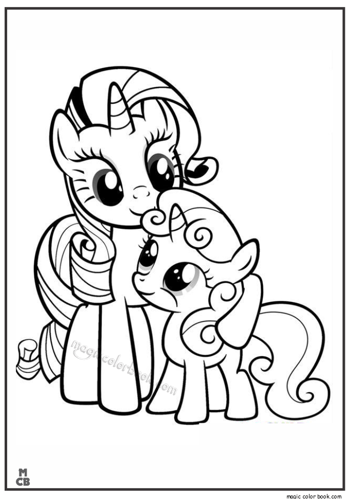 My Little Pony Friendship Is Magic Rarity My Little Pony Coloring My Little Pony Printable Unicorn Coloring Pages