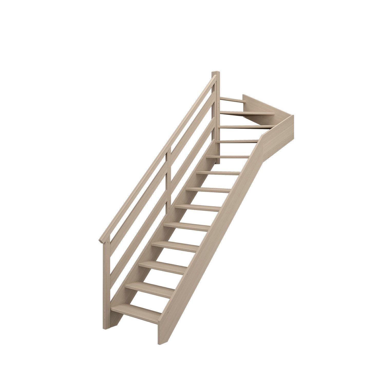 Escalier 1 4 Tournant Haut Gauche Bois Hetre Soft Wood Scm 13 Mar Hetre L 84 9 Escalier 1 4 Tournant Escalier Quart Tournant Haut Escalier