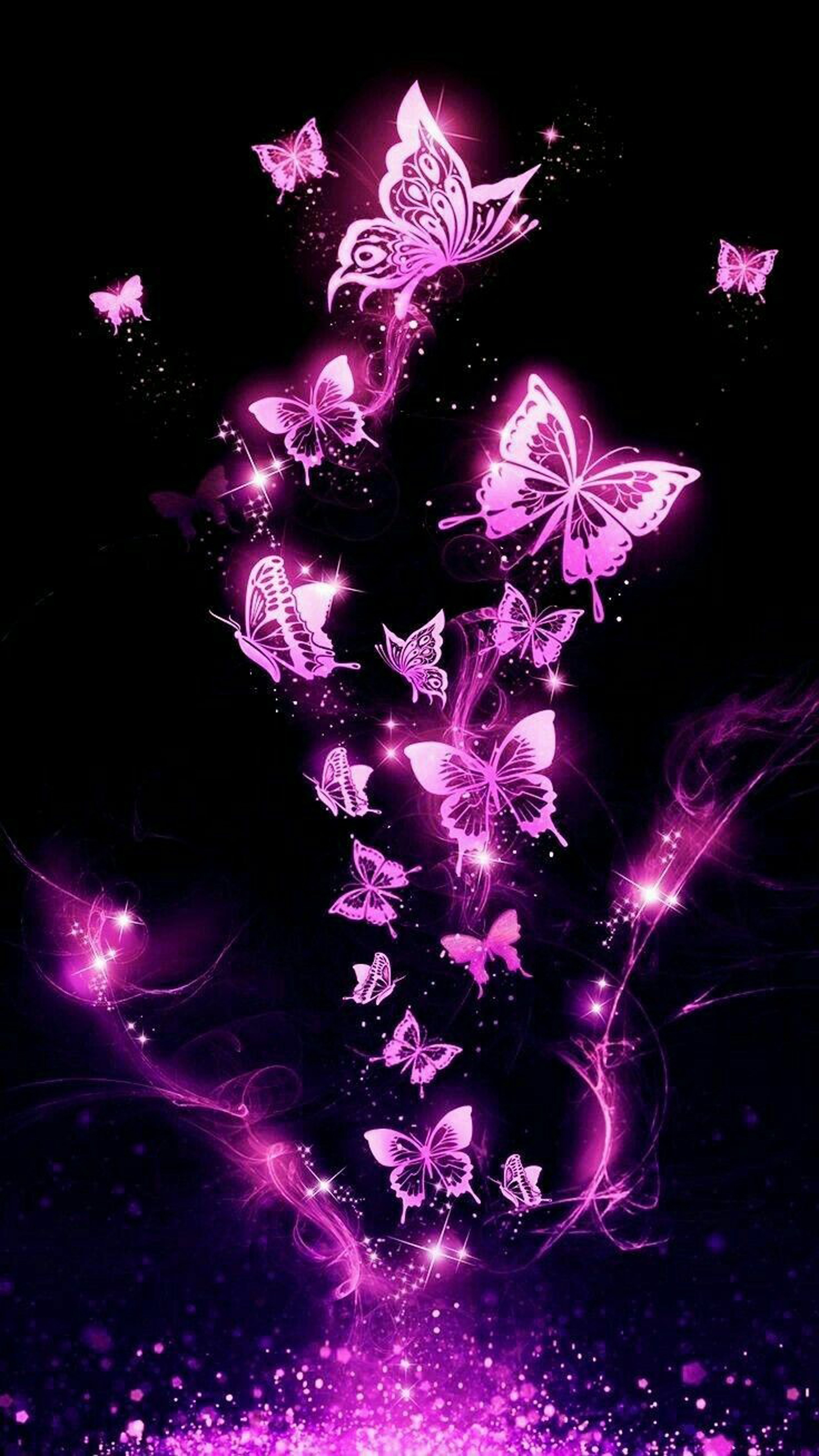 Resumen de diseño in 2020 | Purple butterfly wallpaper ...