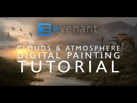Clouds & Atmosphere Painting Tutorial - Digital Painting Basics - Concept Art - YouTube