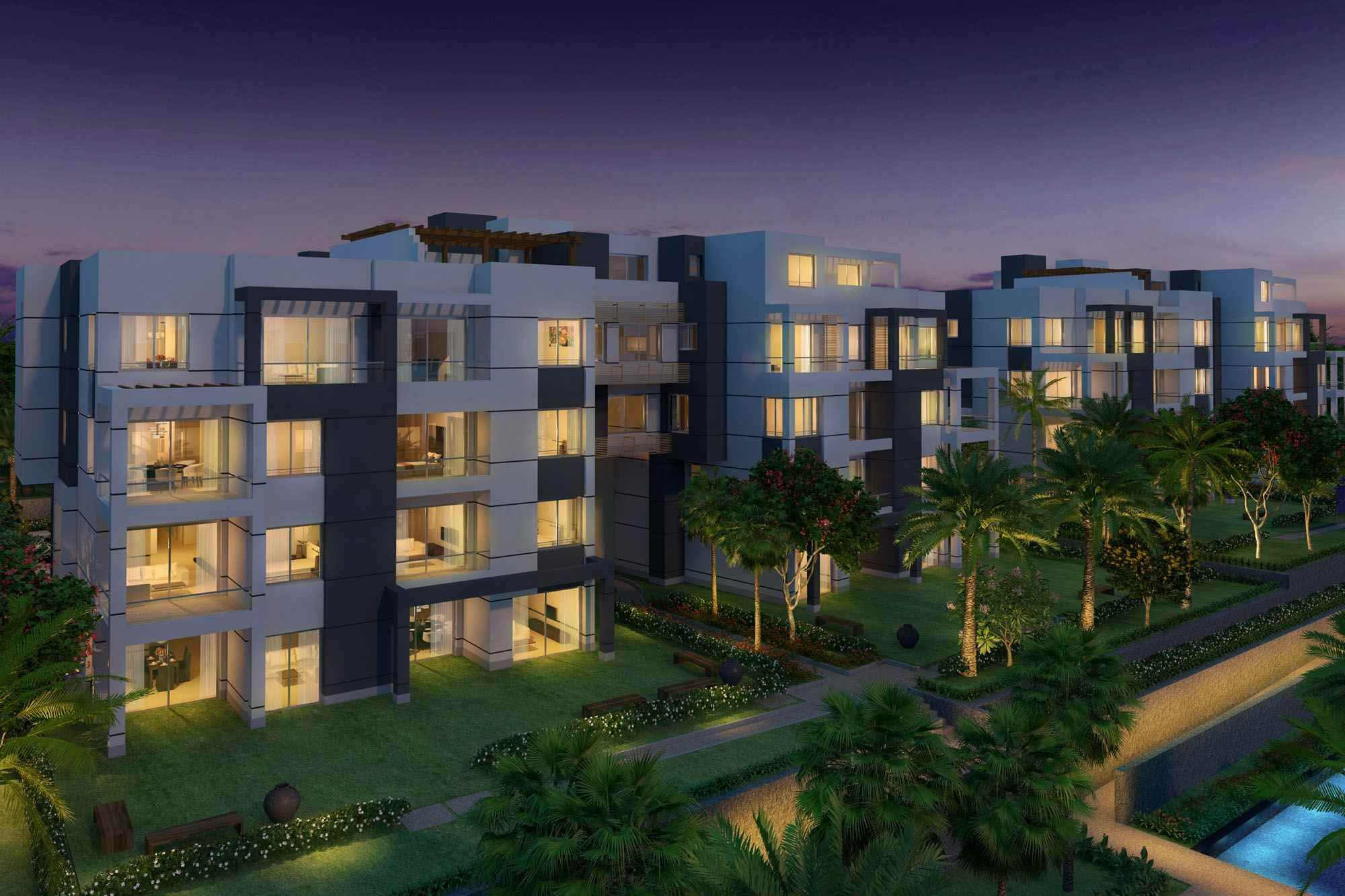 Apartment + Garden for Sale In Park View Compound Katameya