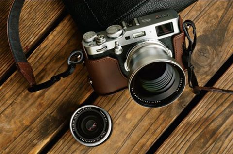 Fujifilm X100F with official case | Camera | System camera
