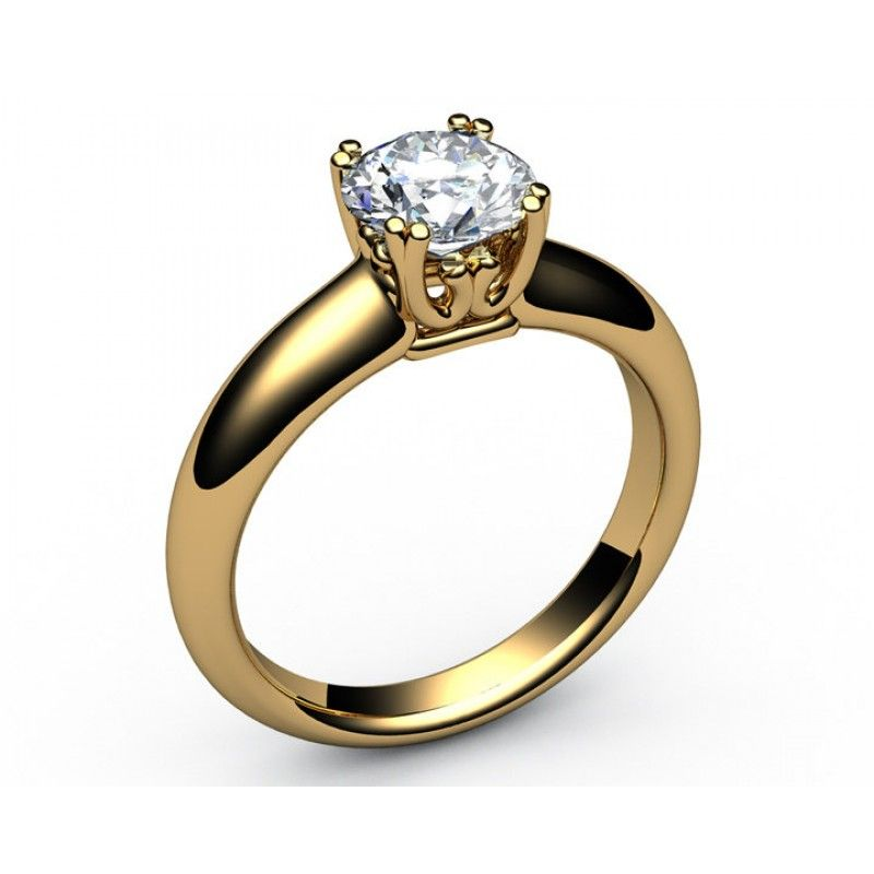 Engagement Ring with Moissanite beautiful Design Solitaire Ring in ...