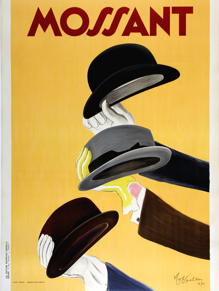 MOSSANT hat advertisement by collectible and well-known poster ...