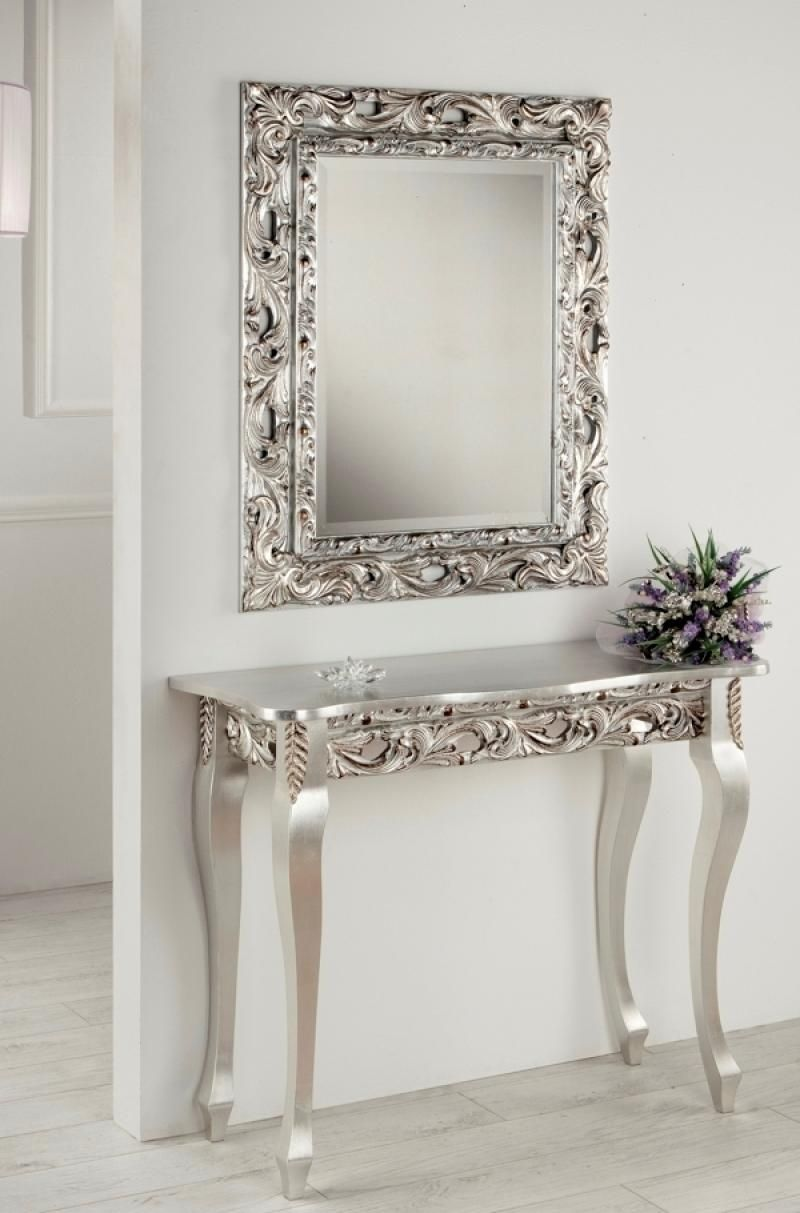 Dalia Ornate Console Table with a Matching Optional Mirror by
