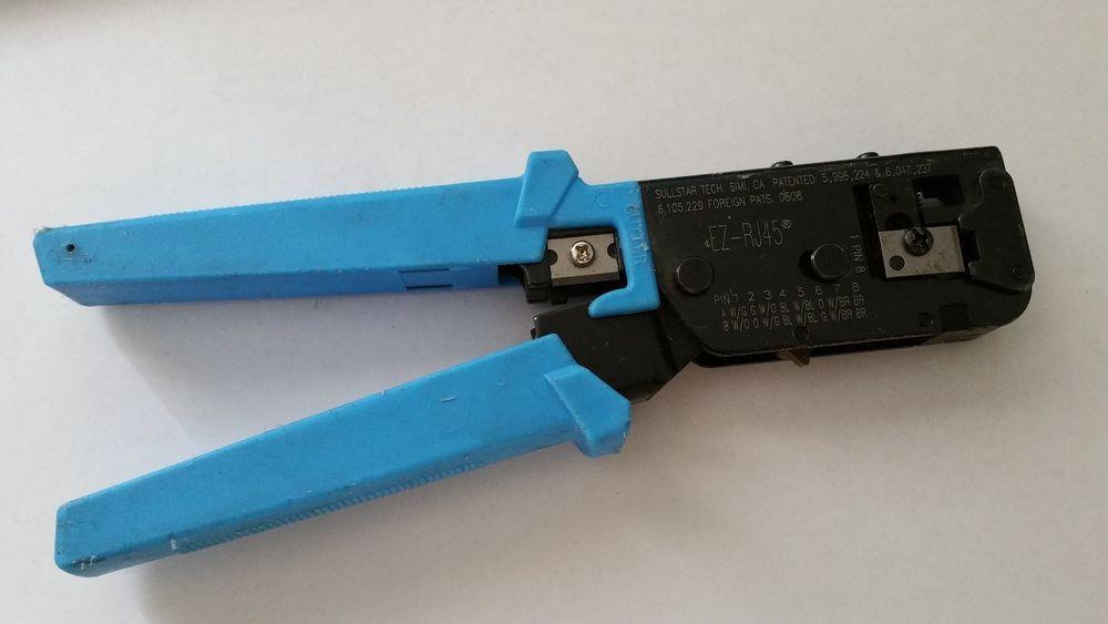 $29.95 Used SullStar Tech EZ-RJ 45 Crimping Tool EZRJ45 Crimper 8P ...