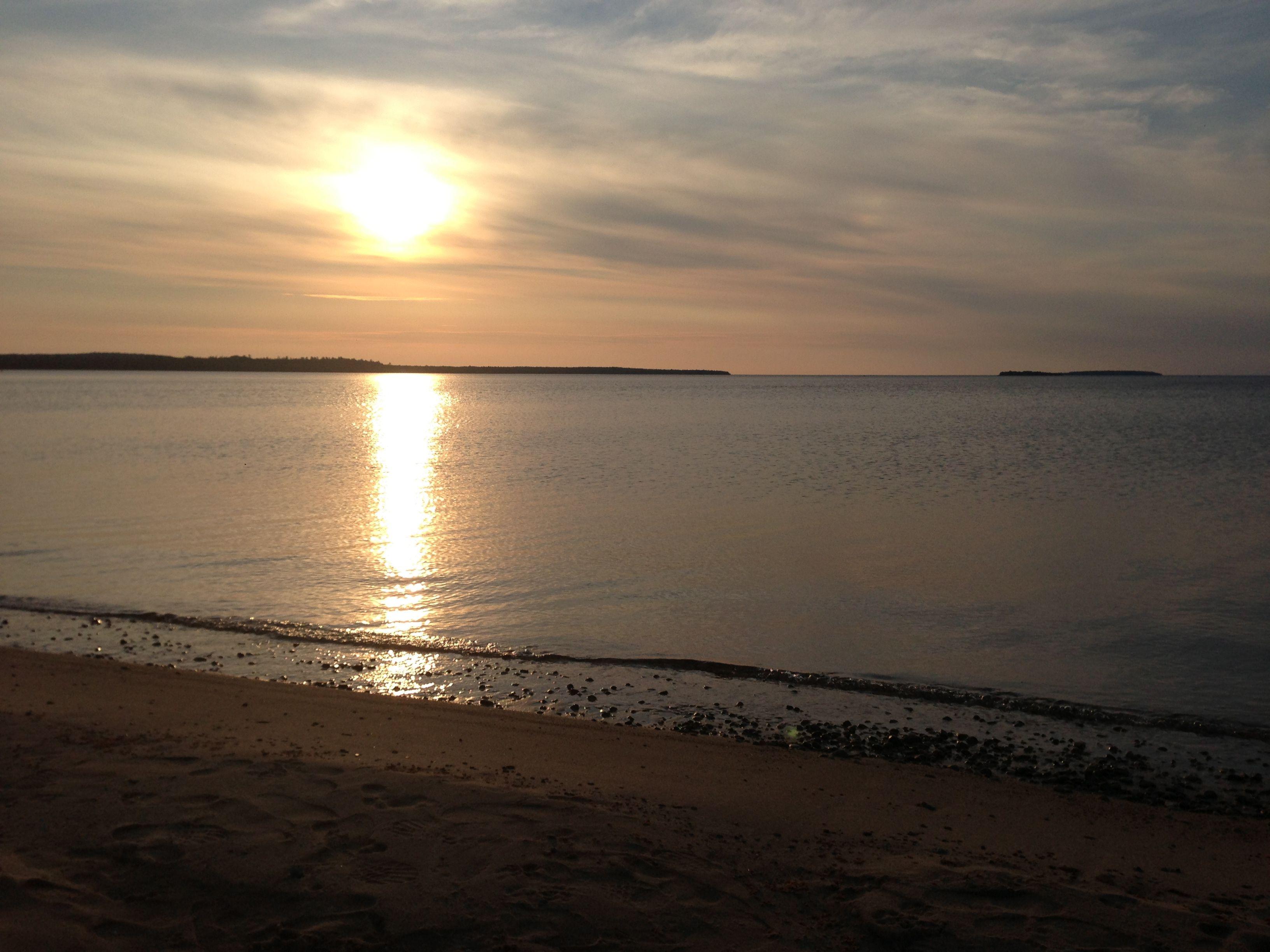 #puremichigan Lake Superior Sunset