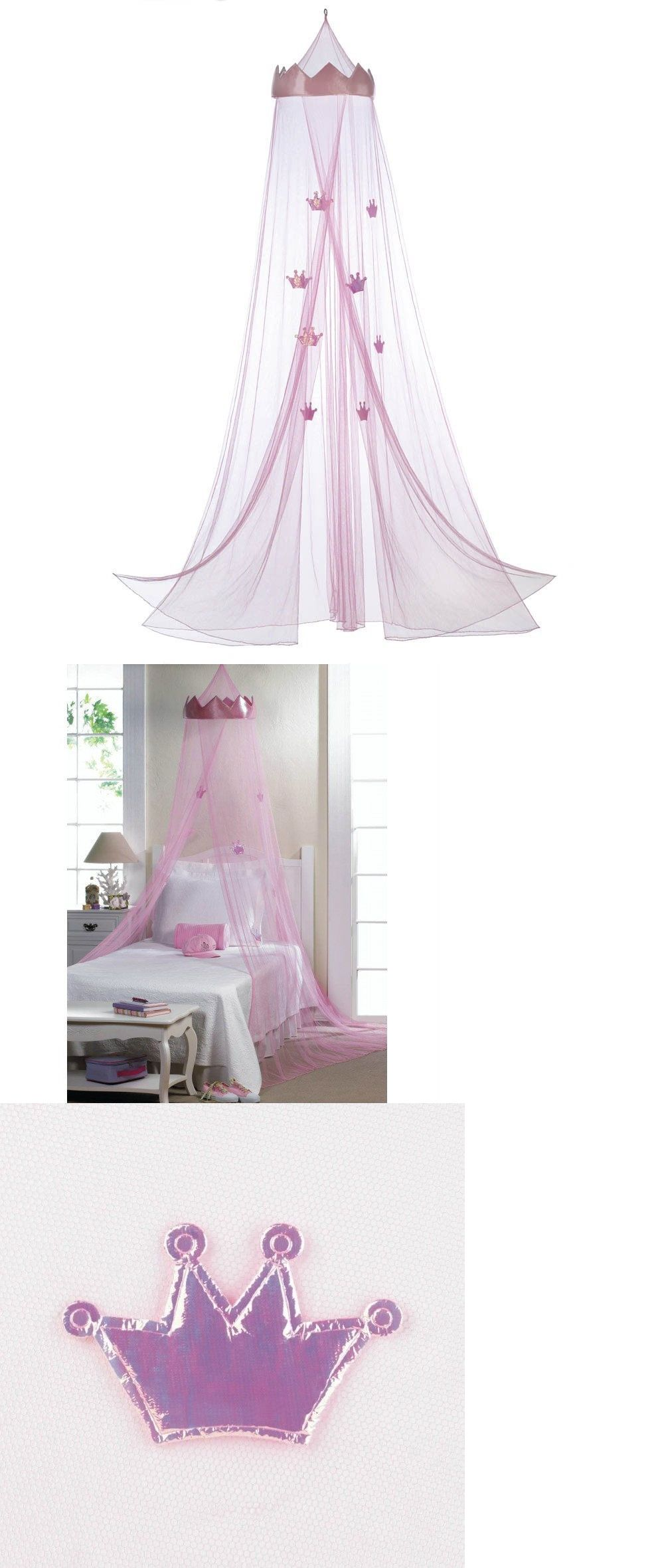 Canopies And Netting 176986 Pink Princess Crown Bed Canopy It Now Only 22 75 On Ebay