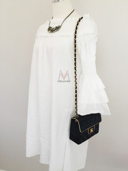 74f700879482 CHANEL- Vintage Mini Square Black Satin Quilted Gold Trim Classic Flap Bag.  RARE!!