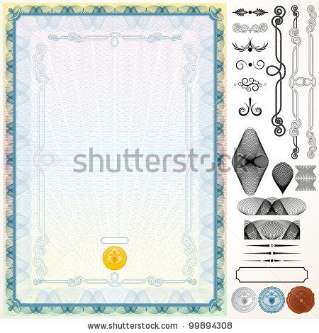 Certificate or Diploma Template with Design Elements by PILart, via Shutterstock