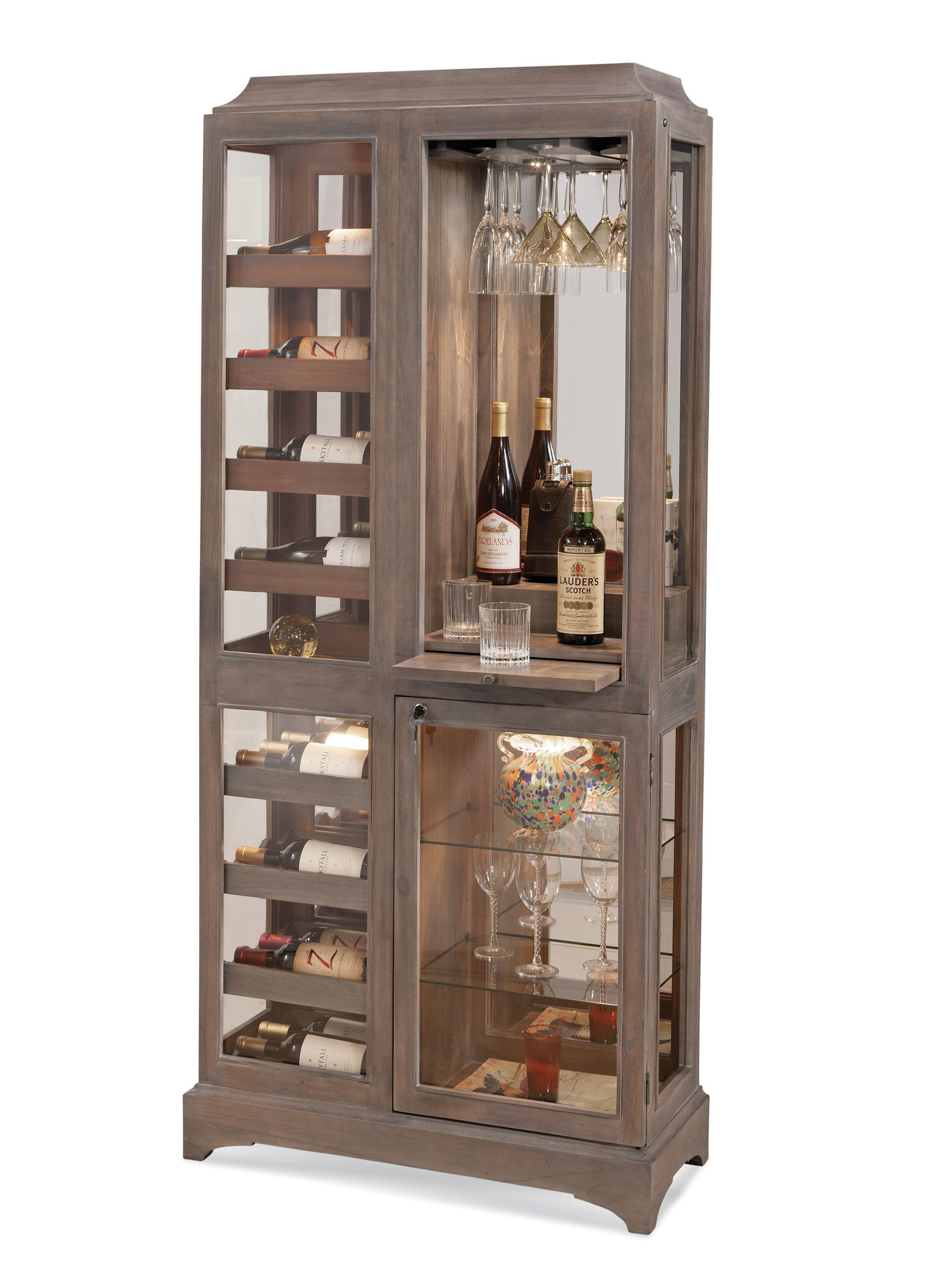 Latitude Ii Beverage Cabinet In Rustic Oak By Philip Reinisch Home Gallery Stores Bars For Home Cabinet Bar Furniture