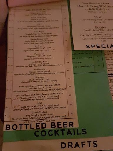 Bottled Beer Menu From Second Draft Hong Kong  Wandering Hong
