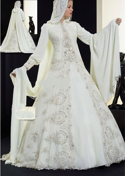 Discount Muslim Bridal Wedding Dress Hijab Gown From Trustful Online Seller
