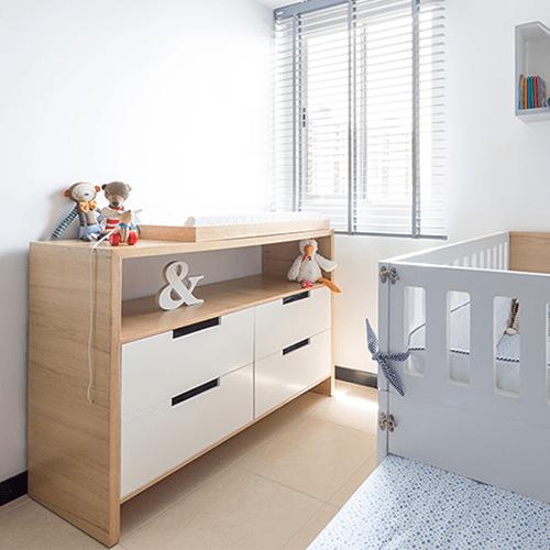 Cambiador polino en roble cambiador para beb s en madera natural cajoneras en mdf pintado - Cambiador de bb ...