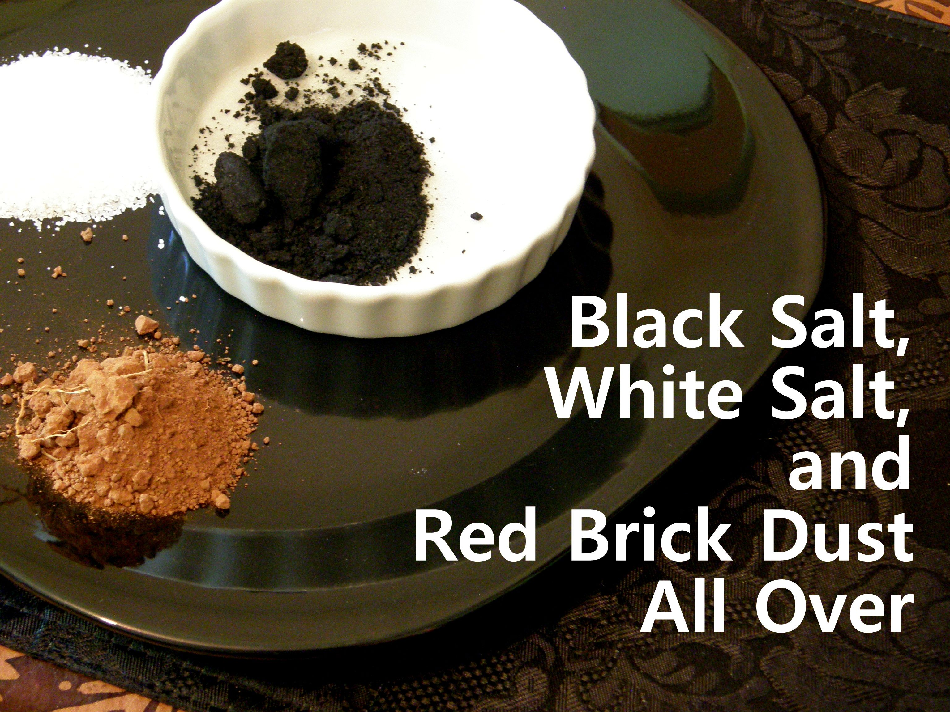 Black Salt White And Red Brick Dust All Over Voodoo Universe Pinterest Magick Witchcraft Hoodoo