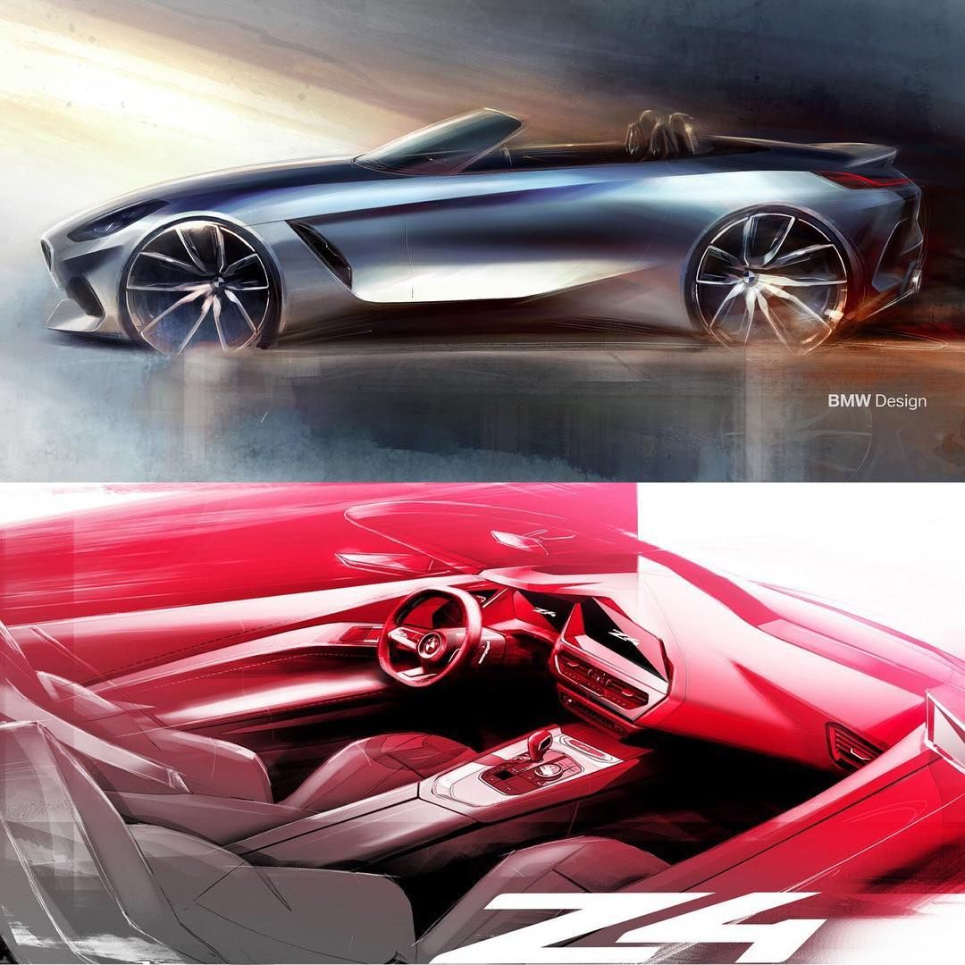 2020 Bmw Z4 Roadster Official Sketches Exterior Design Sketch By
