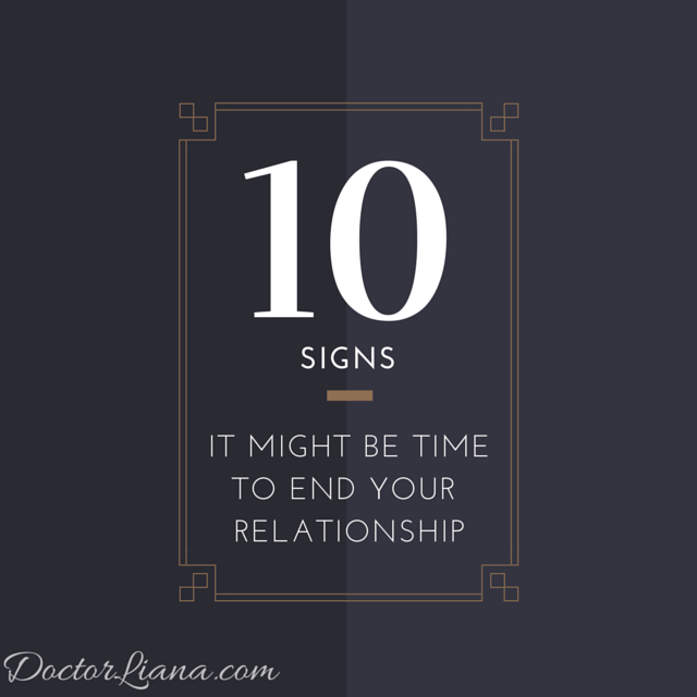 Relationships When To Call It Quits