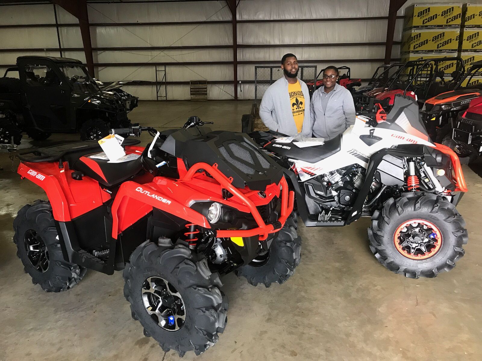 Congratulations To Kuanelius Bonds And Ameriah Taylor From Magnolia Ms For Purchasing A 2018 Can Am Outlander Xmr 570 Ca Hy Customers