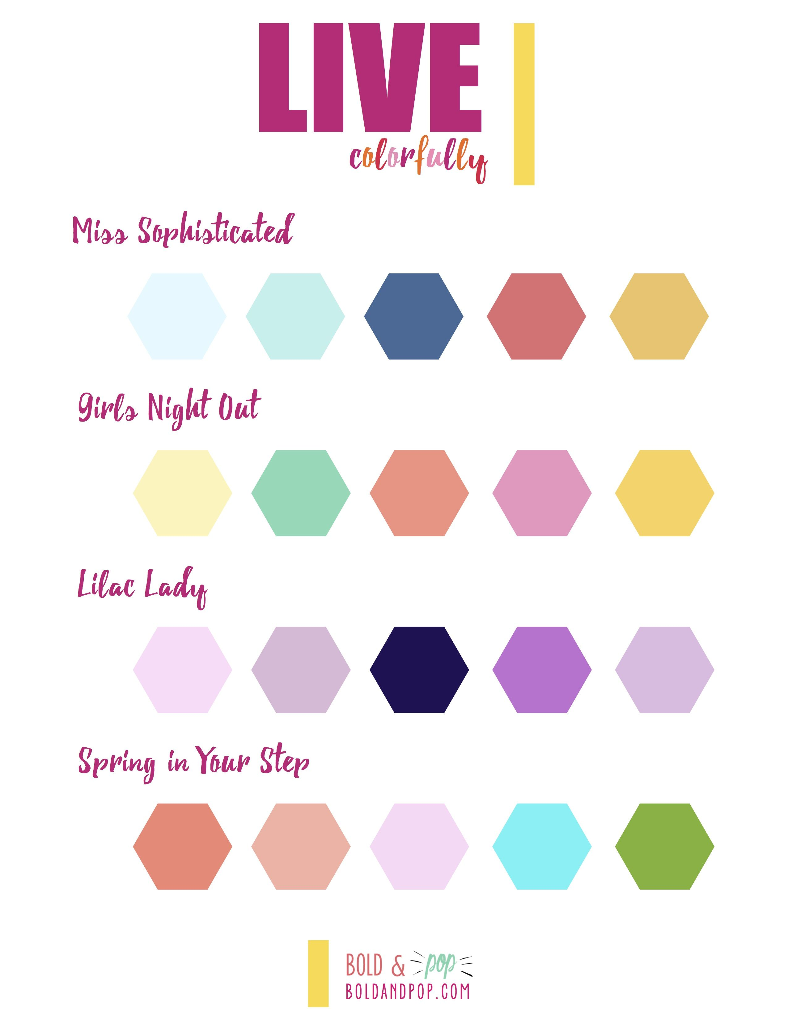 Bold Amp Pop Freebies Live Colorfully Color Palette