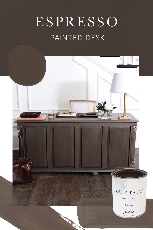 Espresso Jolie Paint Furniture Rehab Wood Office Desk Painted Desk