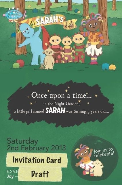 In The Night Garden Birthday Party Ideas – In the Night Garden Birthday Invitations